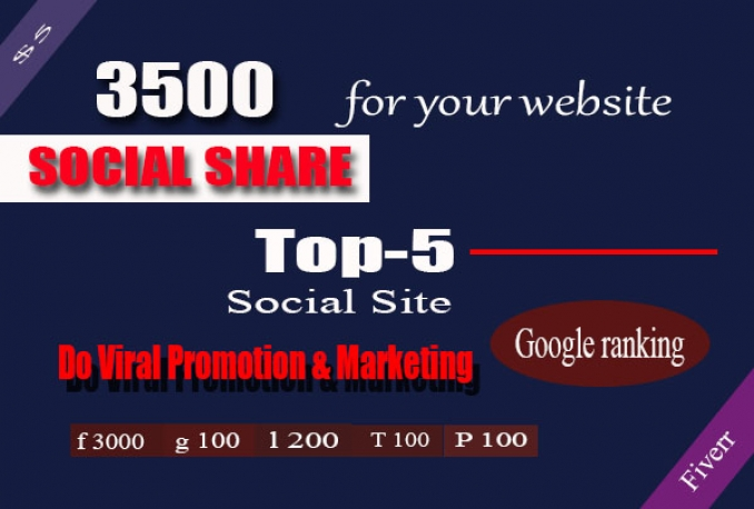 Provide real 3500 High Powerful Social Signal