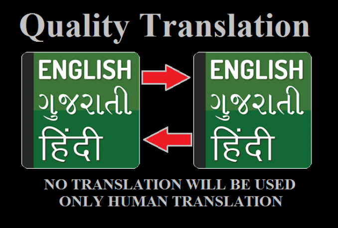 quality translate from English-Hindi-Gujarati