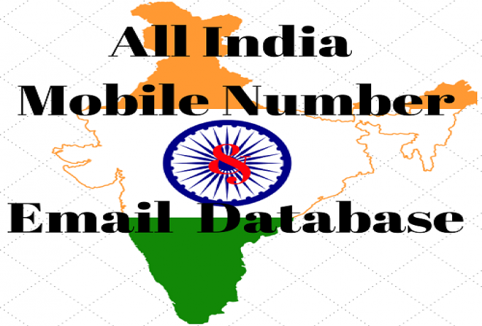 provide 120 Crore All india Email ID + Mobile Number Database