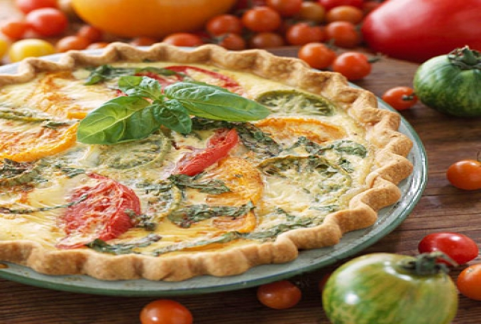 teach you how to make tomato and onion tart