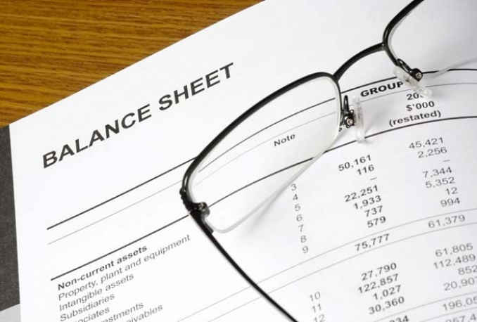 create your Balance sheet