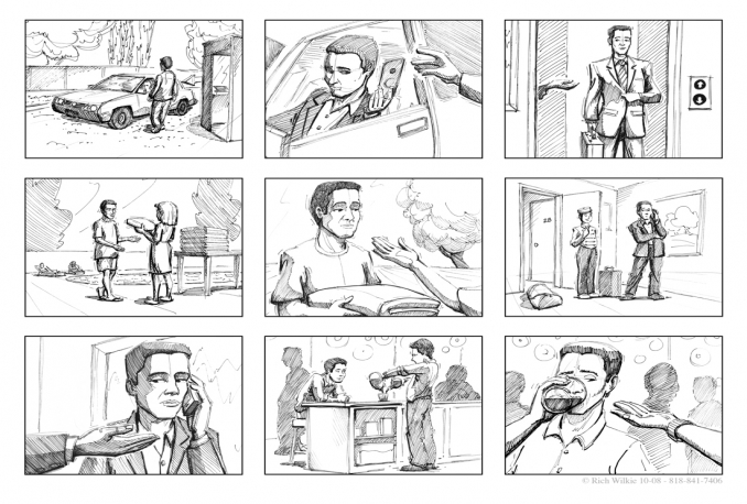 draw STORYBOARDS for film / animation / commercials