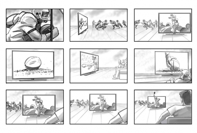 draw an Awesome 4 Panels Storyboard