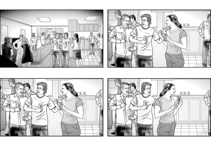 draw STORYBOARDS for your concept