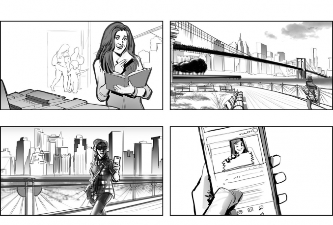 create storyboards / comic strips