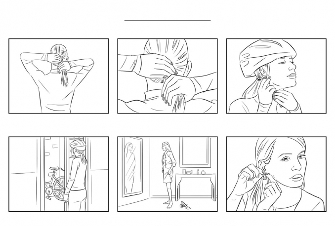 draw one page STORYBOARD for your movie or music video