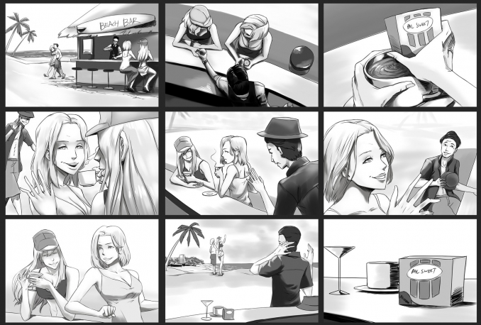 do storyboards, comics, story illustration, cover page