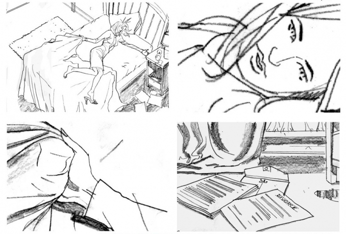 do rough STORYBOARDS