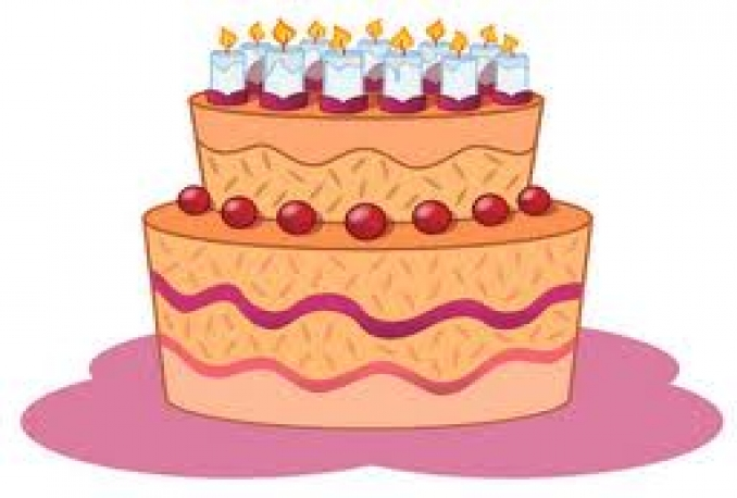 teach how to draw birthday cake