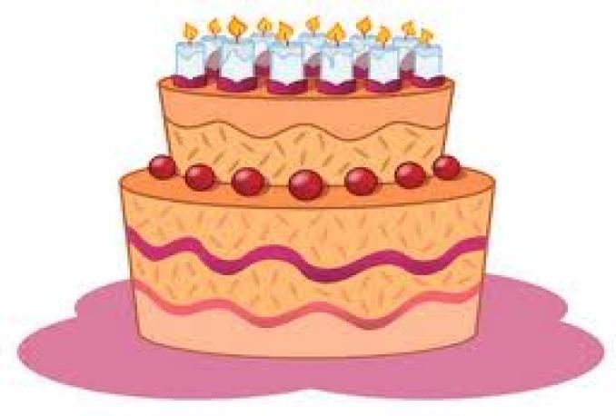 teach how to draw birthday cake