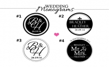 create your wedding monogram