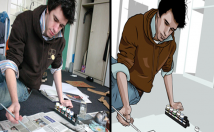 draw your face into vector art cartoon style