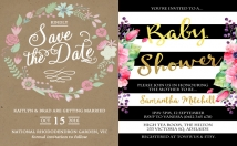 design BEAUTIFUL personalized party invitations