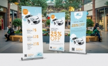 design a Top Quality Roll up Banner or banner stand