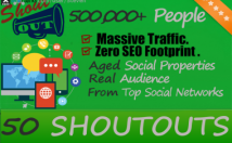 promote your website 50 Shoutouts to 500,000 Real People on Social Media