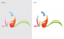 convert or vectorize Low Res Logo, Icon to vector