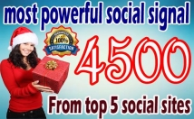 4,500 PR9 Social Signals Monster Pack from the BEST Social Media website