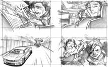 draw film storyboard / shooting board