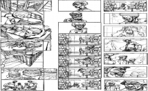 transform script in a storyboard for comic or manga