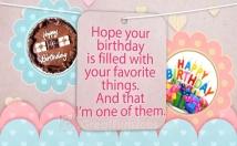make this sweet Birthday Greetings